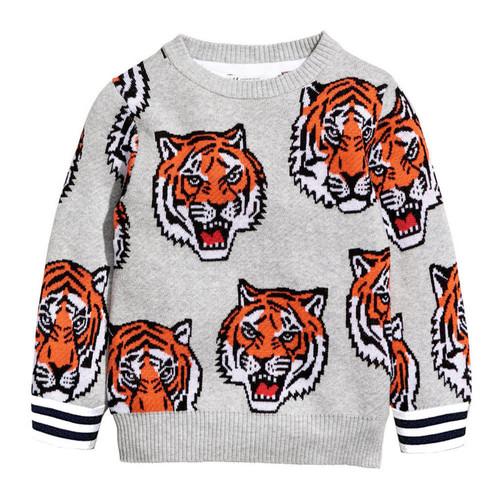 Tiger Sweatshirt Grey
