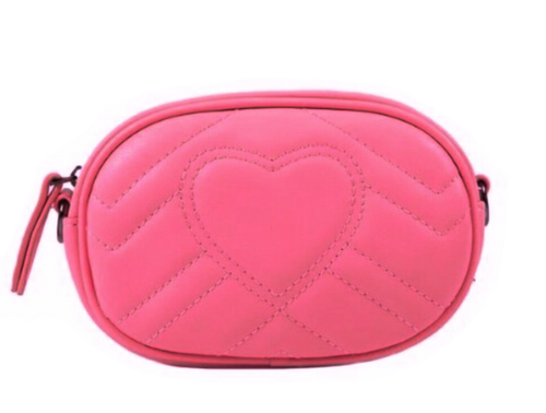 Pink Heart Belt Bag