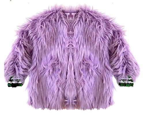 Faux Fur Purple