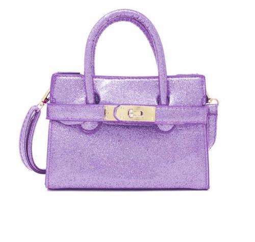 Sparkle Strap Bag- Purple