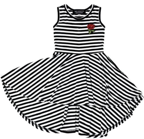 WM Dress Rose B/W