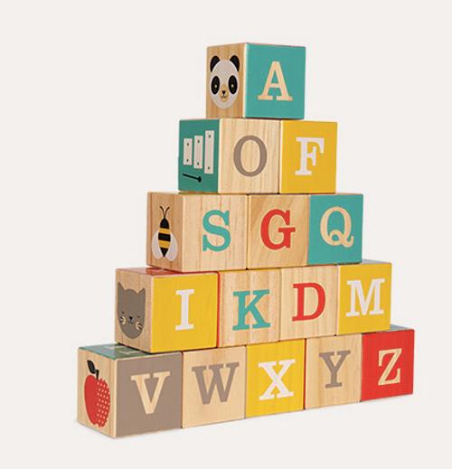 ABC Wood Blocks - Petit Friends