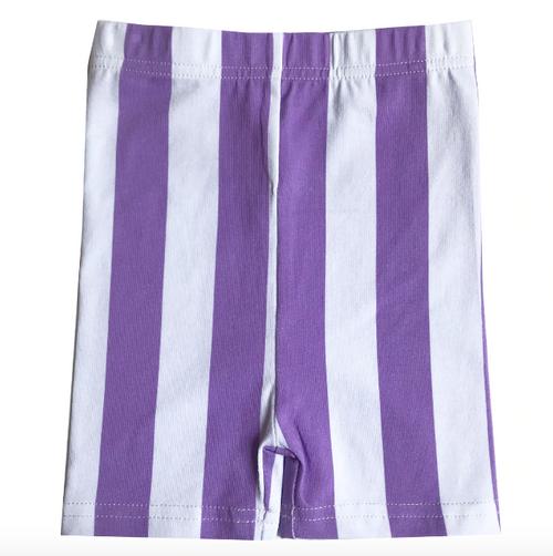 BV Biker Short Purple Stripe 8y