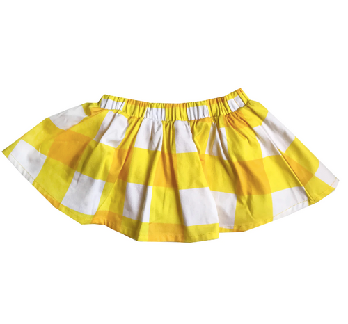 BV Skirt Gingham Yellow 4t