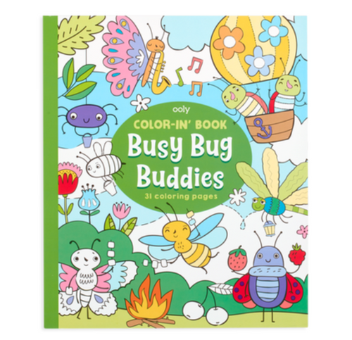 OO Color In Book - Busy Bug Buddies