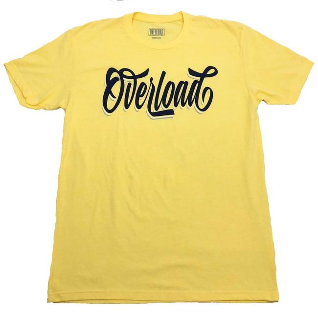 Overload - T-Shirt - Cursive - Banana