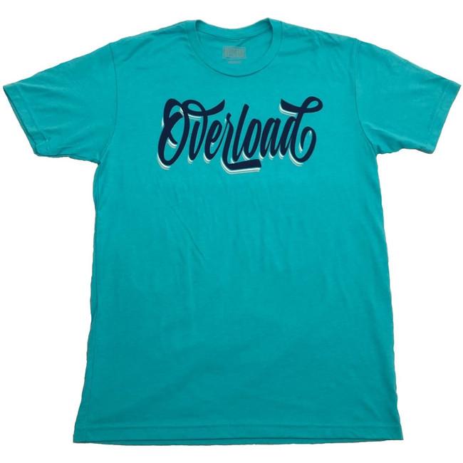 5ba31d37351 Overload - T-Shirt - Cursive - Tahiti Blue