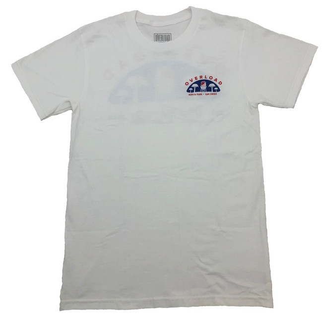 3bfc738c8e6 Overload - T-Shirt - Water Tower 2 - White Blue Red