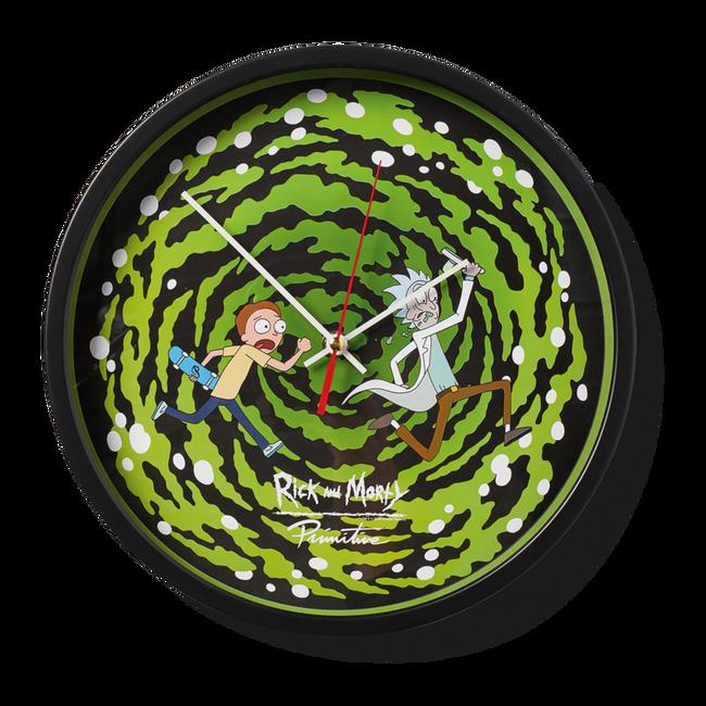 Primitive - Wall Clock - Portal Glow in the Dark - Green