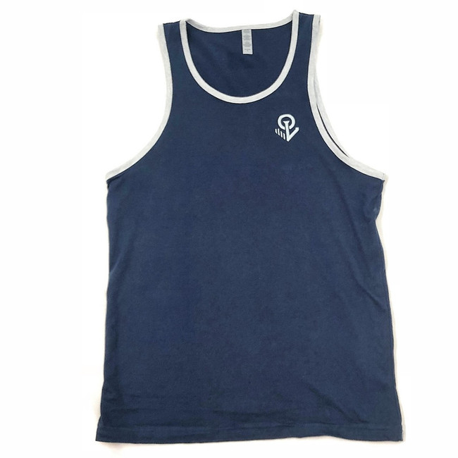 Overload - Tank Top - Anchor EMB - Navy/Heather