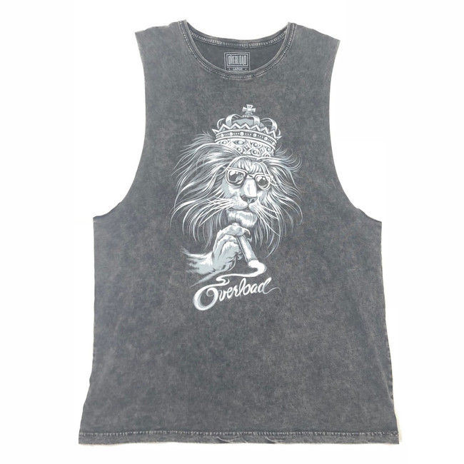 Overload - Tank Top - Lion - Black Stone Wash f5663a437dae2