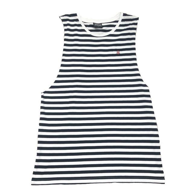 Overload - Tank Top - Anchor Stripe - Black/Natural
