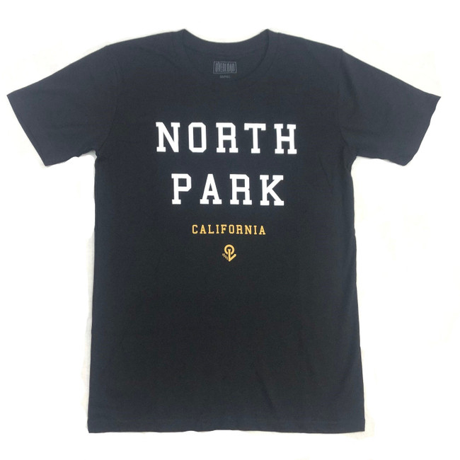 Overload - T-Shirt - North Park - Black/White/Gold
