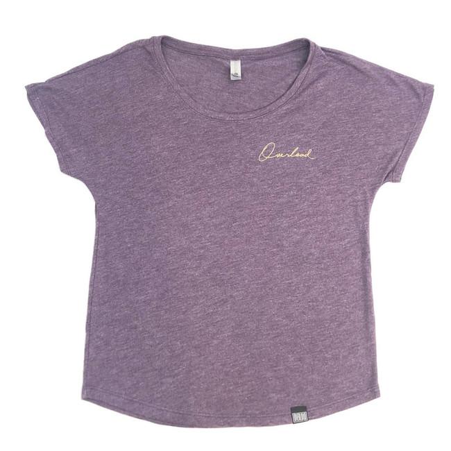 Overload - Womens - T-Shirt - Script - Vintage Purple