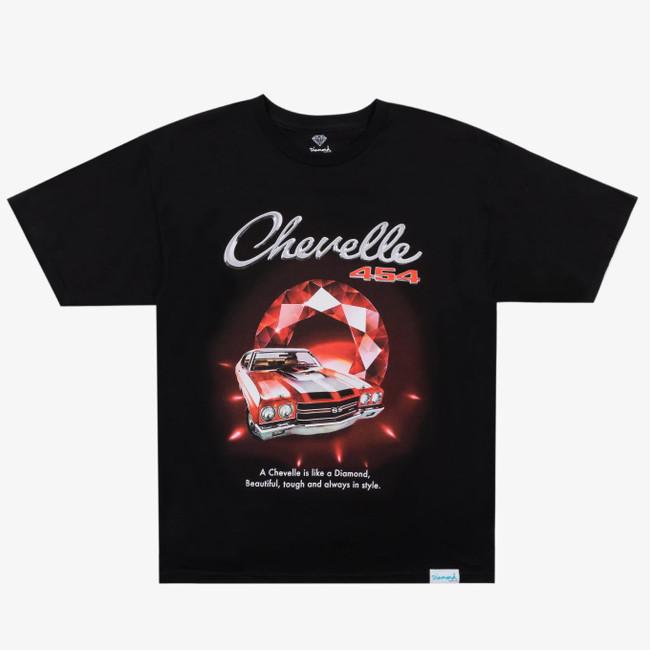 Diamond x Chevelle - T-Shirt - Cranberry Red - Black