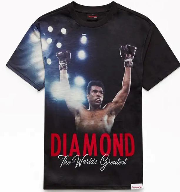 Diamond - Muhammad Ali The Champ Tee - Black