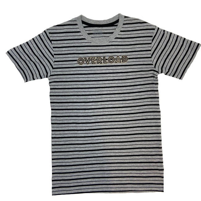 Overload - T-shirt - Striped - Grey Gold