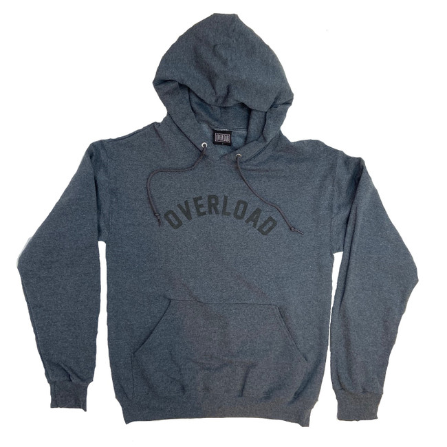 Overload - Hoodie - Arched - Black Heather