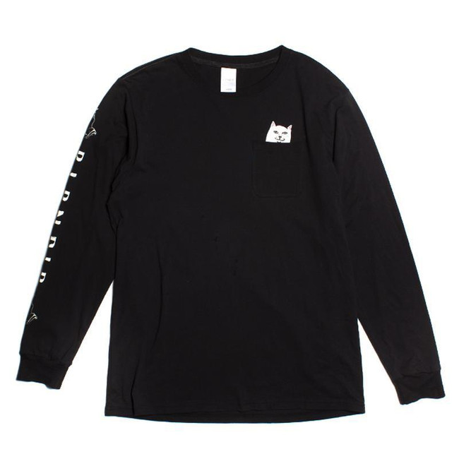 Rip N Dip - T-Shirt - Lord Nermal L/S - Black