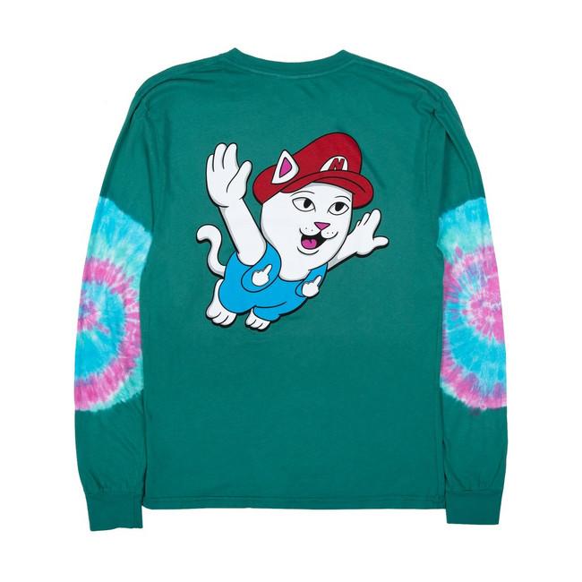 Rip N Dip - T-Shirt - Nermio L/S - Aqua/Elbow Wash