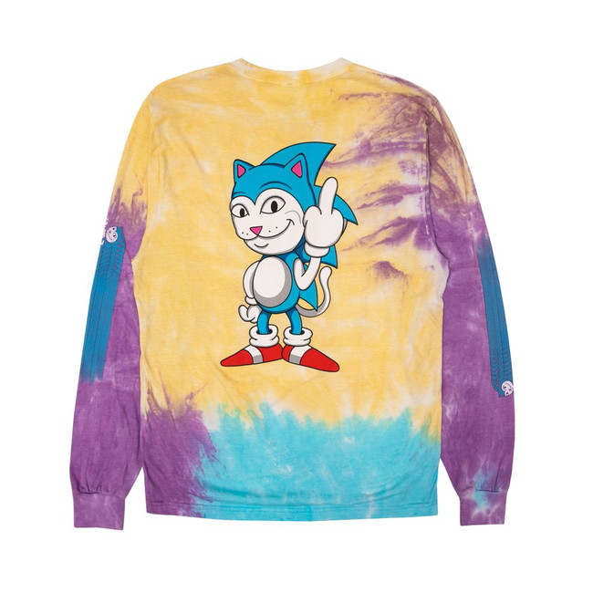 Rip N Dip -  T-Shirt - Nermhog L/S - Multi Tie Dye