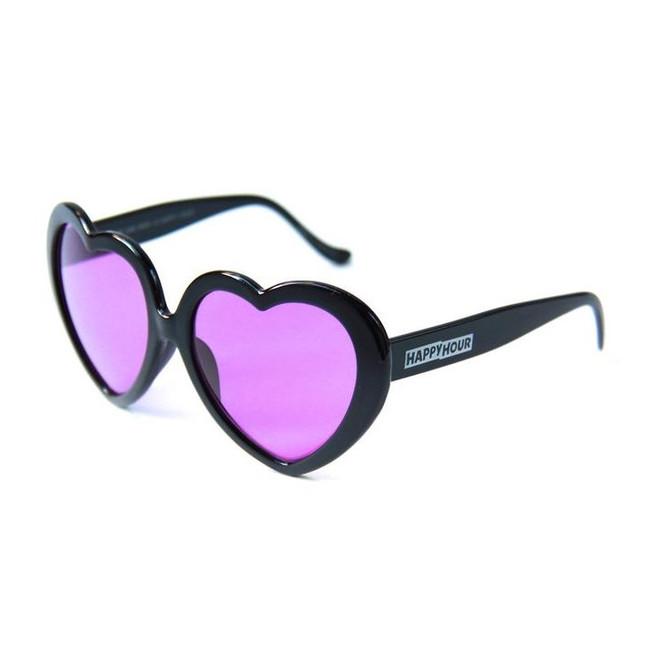 Happy Hour - Heart On - Black Purple