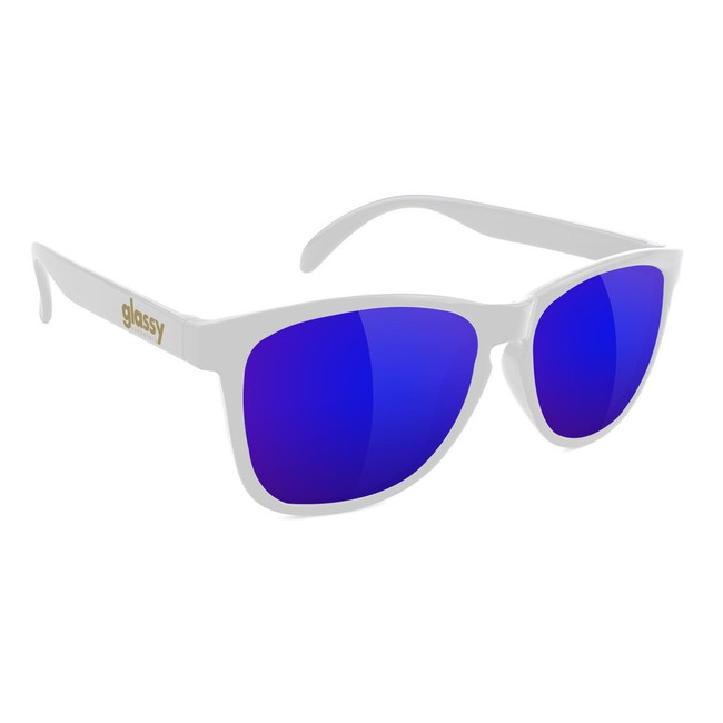 Glassy - Deric - White/Blue Mirror