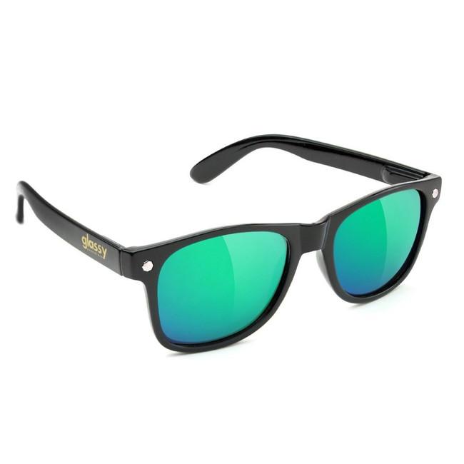 Glassy - Leonard  - Matte Black/Green Mirror
