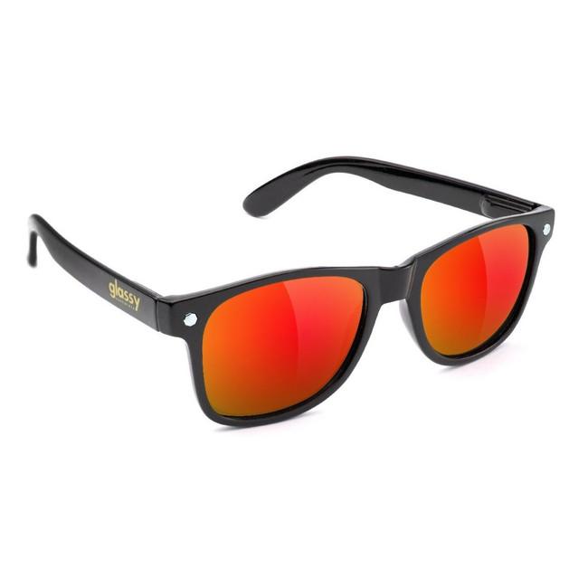 Glassy - Leonard - Black/Red Mirror