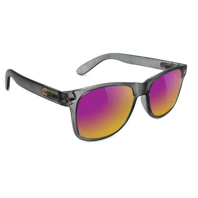 Glassy - Leonard - Dark Grey/Purple Mirror