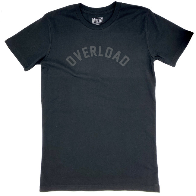 Overload -  Arched Tee - Black/Black