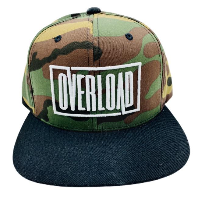 Camo/Black Overload Box Logo Snapback