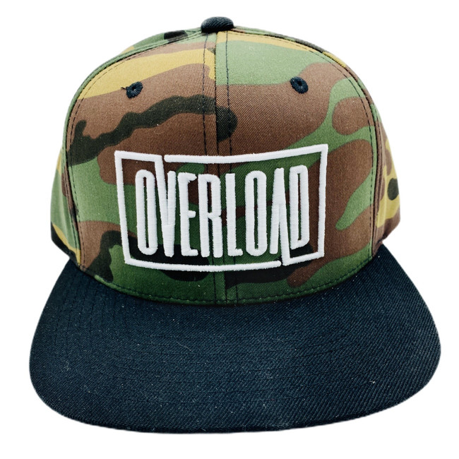 Camo/Black Overload Box Logo Snapback