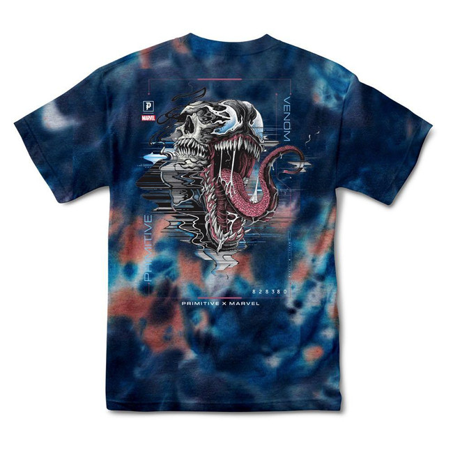 Primitive - Marvel Venom Washed Tee - Blue
