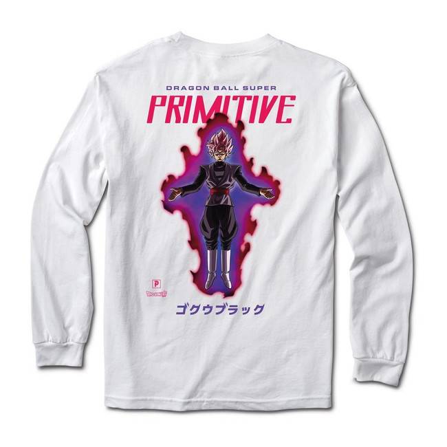 Primitive - Goku Black Rose L/S Tee - WHITE