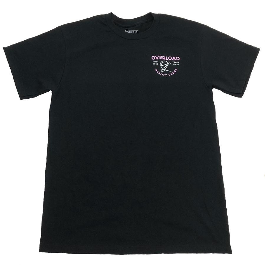 Overload - T-Shirt - Indian Skull - Black/Pink