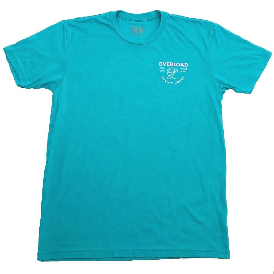 Overload - T-Shirt - Indian Skull - Tahiti Blue/Pink