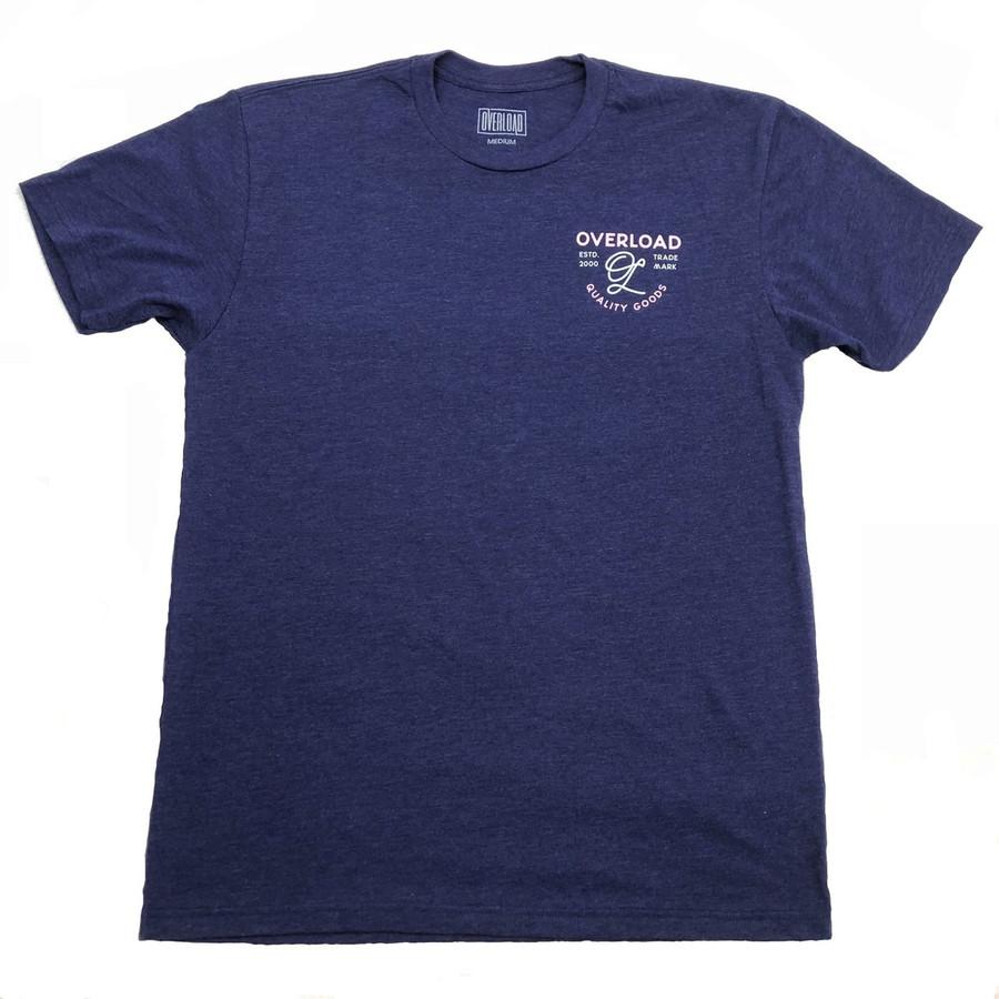 Overload - T-Shirt - Indian Skull - Storm/Pink