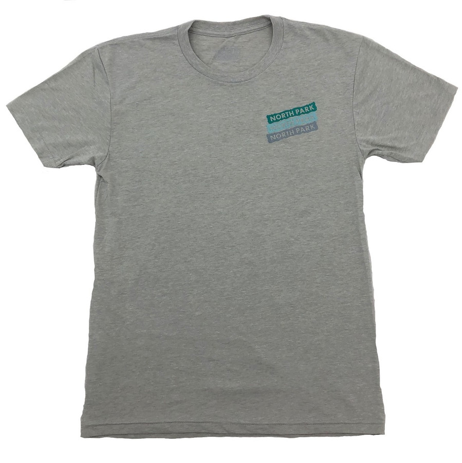 Overload - T-Shirt - North Park Sign - Silk/Teal