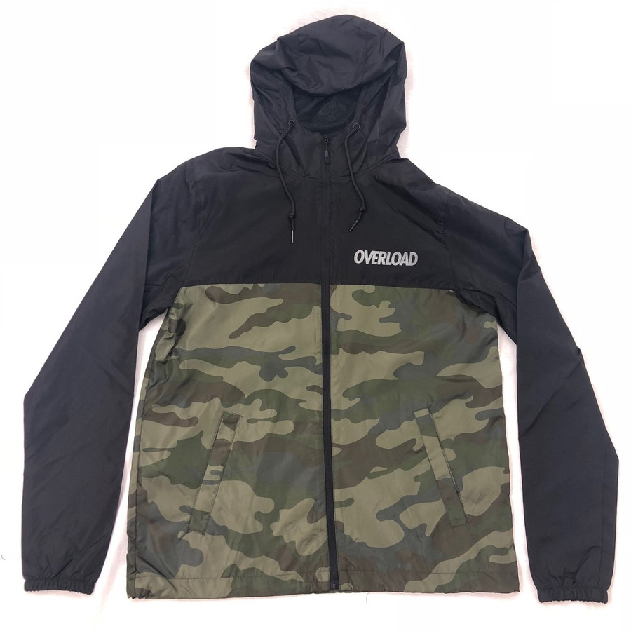 Overload - Windbreaker Zip Up - Black Camo