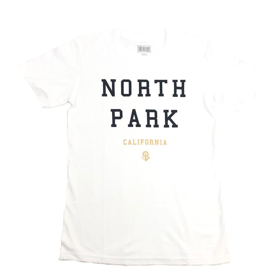 Overload - T-Shirt - North Park - White/Black/Gold