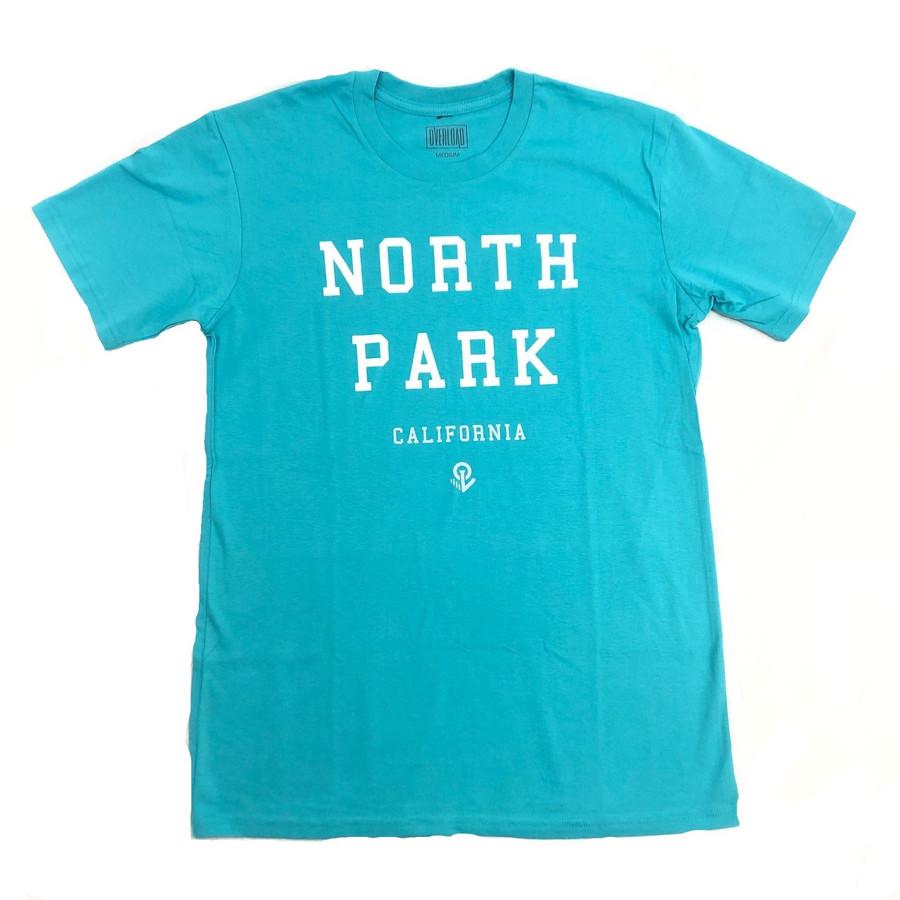 Overload - T-Shirt - North Park - Teal/White/Sliver