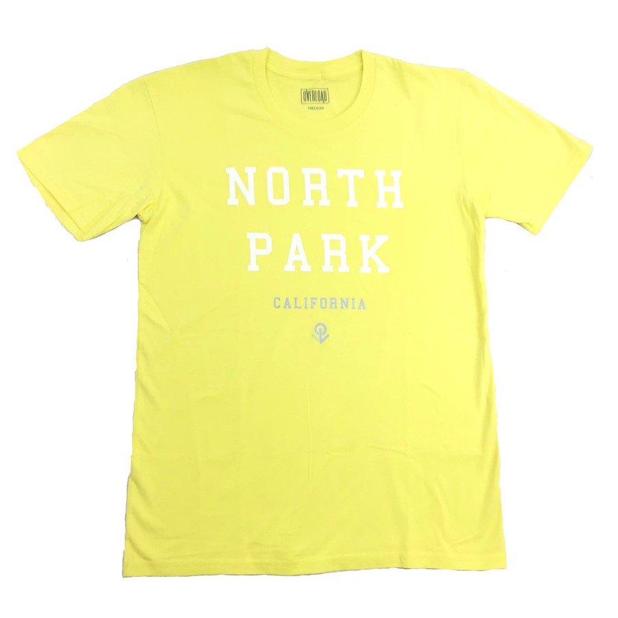 Overload - T-Shirt - North Park - Lemon/White/Sliver