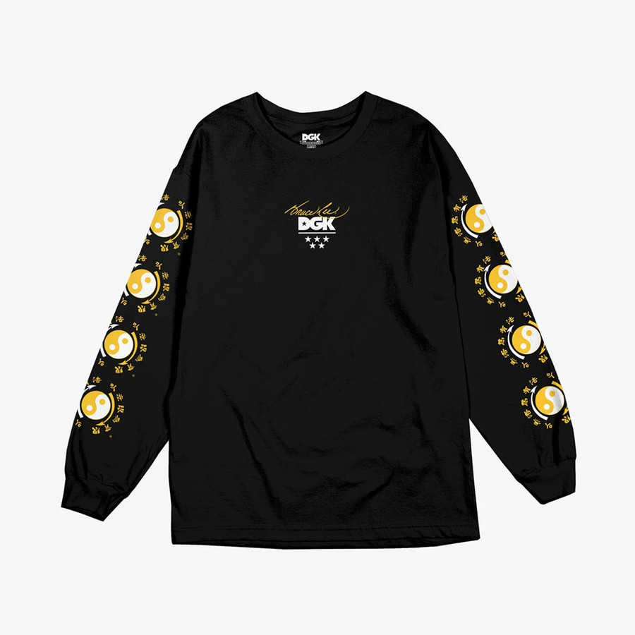 DGK - Bruce Lee Little Dragon Long Sleeve - Black