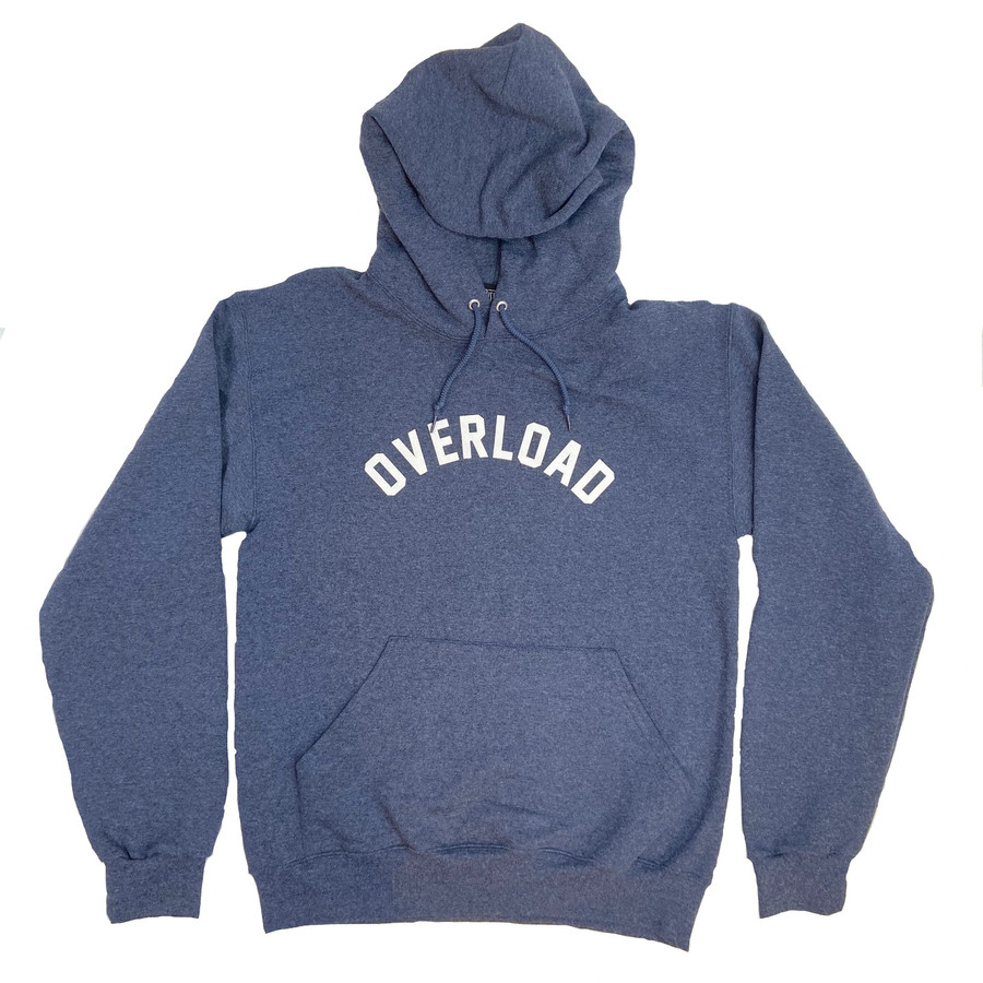 Overload - Hoodie - Arched - Heather Navy
