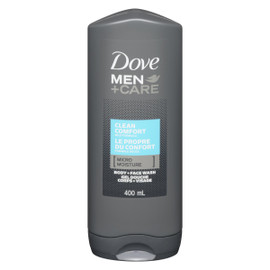 Dove Men+Care Gel Douche Corps + Visage le Propre du Confort 400 ml