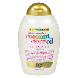 Ogx Shampooing Remède Contre les Dommages + Huile de Coco Miracle 385 ml