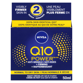 NIVEA Hydratant de Nuit Q10 Power Anti-Rides + Raffermissant 50 ml