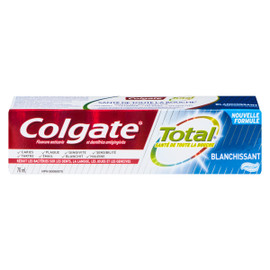 Colgate Total Fluorure Anticarie et Dentifrice Antigingivite Blanchissant Gel 70 ml