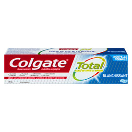Colgate Total Fluorure Anticarie et Dentifrice Antigingivite Blanchissant Gel 120 ml